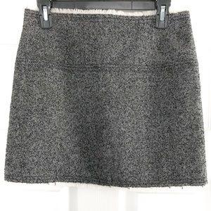 J. Crew Tweed Herringbone Mini Skirt